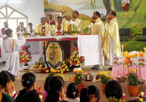 Blessing of New Parish in Tuikarmaw, Tripura