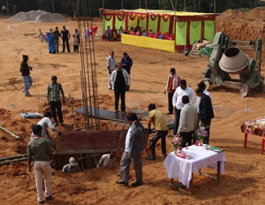 Preparations for the Blessing of the Foundation of Holy Cross College Agartala