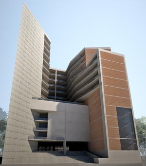 Architectural Rendering of Notre Dame University, Dhaka