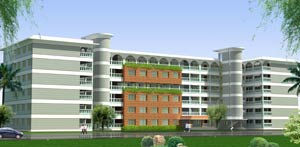 Architectural Rendering of Notre Dame College Mymensingh