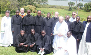 The Nine Newly Professed with their Novitiate Staff and Superiors