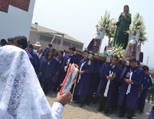 Procession with the Our Lady of Sorrows Statue