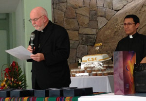 Fr O'Hara speaking at anniversary luncheon