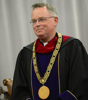 Fr John Denning, CSC, at his inauguration