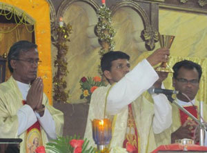 Fr Gnanam at his Mass of Thanksgiving
