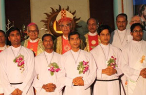 The Newly Finally Professed Brothers in Bangladesh