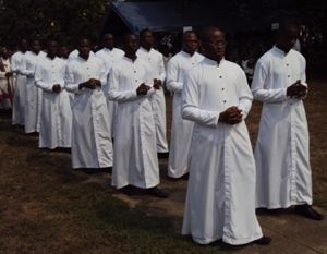 13 Novices Processing into their Mass of First Profession in Ghana