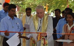 Fr Warner Inaugurates the New Building at Notre Dame of Holy Cross School in Salem