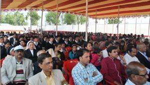 The crowd at the Inauguration of Holy Cross College in Agartala