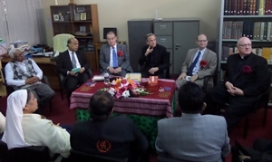 Leaders of the University of Notre Dame in the United States and the University of Notre Dame in Bangladesh meet