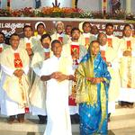 Newly Ordained pose for a picture in India