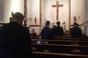 The novices' Holy Hour before their First Profession