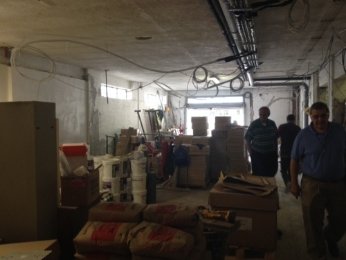 Renovation work at the Generalate