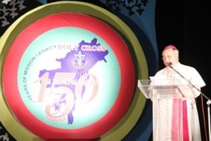Archbishop Pinnacchio speaks at the 150th Anniversary Celebrations