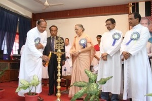 Fr Thalackan participates in the celebrations of the 150th Anniversary of Holy Cross in Northeast India