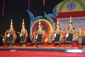 Dances during the Cultural Program of the 150th Anniversary of Holy Cross in Northeast India