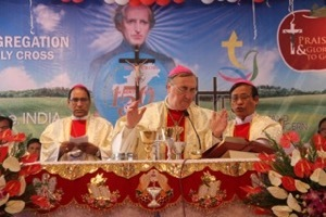 Archbishop Pinnacchio presides at the Mass for the 150th Anniversary of Holy Cross in Northeast India