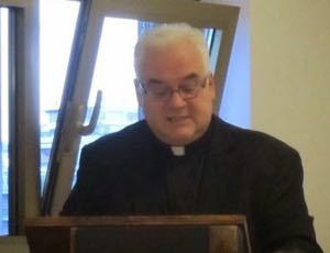 Fr David Guffey, CSC, gives a talk on Blessed Moreau for the Blessing of the Generalate