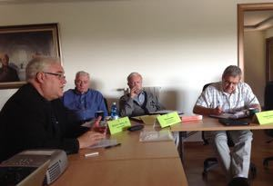 Fr David Guffey, CSC, addresses the meeting in Rome
