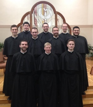 The 2015 First Profession Class at the Holy Cross Novitiate in Cascade, Colorado