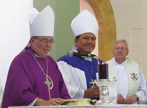 Holy Cross Bishops Jorge Izaguirre and Arthur Colgan