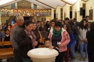 Renewal Of Baptismal Promises In San José Chapel In Codegua, Chile