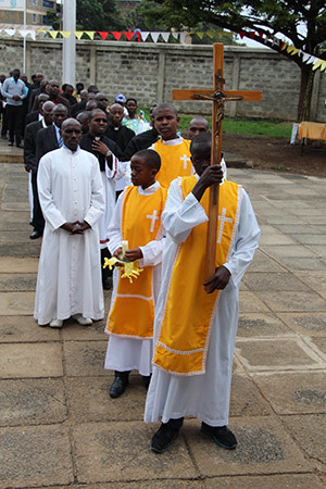 Procession For The Final Vows Mass In East Africa