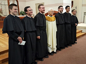 The Newly Professed With Their Novice Master, Fr Ken Molinaro, CSC
