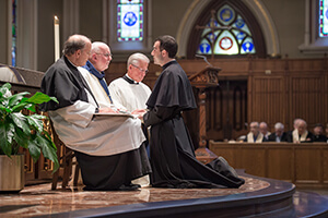 Ryan Pietrocarlo, CSC, Makes His Final Profession To Fr Tom O'Hara, CSC