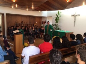 Fr David Halm, CSC, Celebrates Mass With Students At St George's College