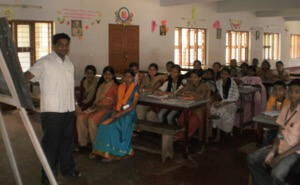 Fr Biju Working With Hearing Impaired Children