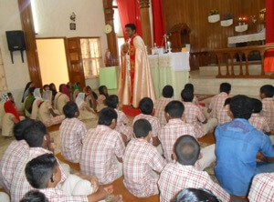 Fr Biju Celebrates Mass In Sign Language