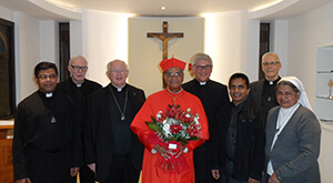 Patrick Cardinal D'Rosario with Members of the General Administration and Friends