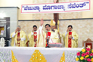 Fr Rajesh Gives A Blessing At His Ordination