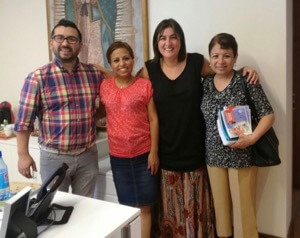 Ms Yataco And Ms Nova Visit The Archdiocesan Child Protection Offices In Santiago