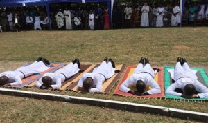 Litany of the Saints at Final Vows in Ghana