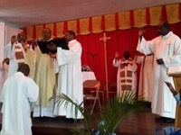 Holy Cross in Haiti Marks Holy Week with a Final Profession