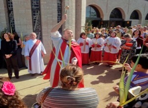Bishop-elect William Wack presides at Palm Sunday