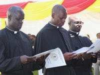 Holy Cross in East Africa Rejoices with Three Final Professions