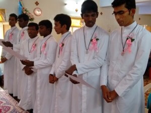 Seven Newly Professed In India