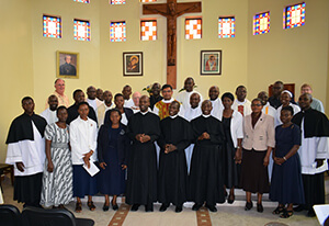 Newly Professed with all gathered Holy Cross