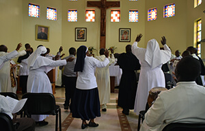 Thanksgiving dance after Communion