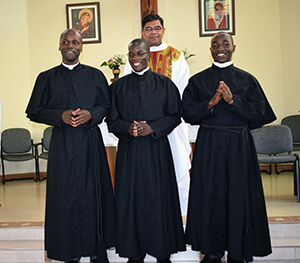 Newly professed with Fr. Abraham