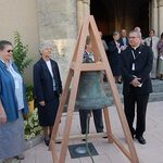 Beatification-Basile-Moreau,-Laigné-en-Belin,-kickoff-of-the-festivities,-bell-of-ND-Holy-Cross