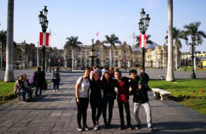 Chilean students explore Lima during the Holy Cross Youth Gathering