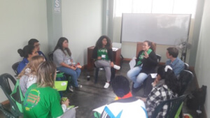 A Small Group during the Youth Gathering in Peru