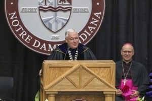 Fr Tyson gives his inaugural address at Holy Cross College