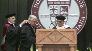 Fr Tyson installed as Holy Cross College President
