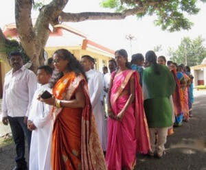 The Procession for the Mass of First Profession in India