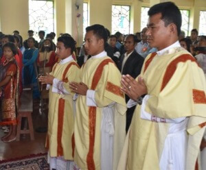 Three New Deacons in the North East India Province